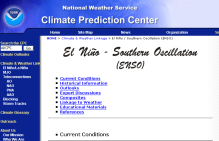 Screenshot zu 'NOAA Climate Prediction Center (CPC)'