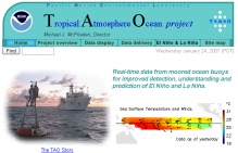 Screenshot zu 'Tropical Atmosphere Ocean project'