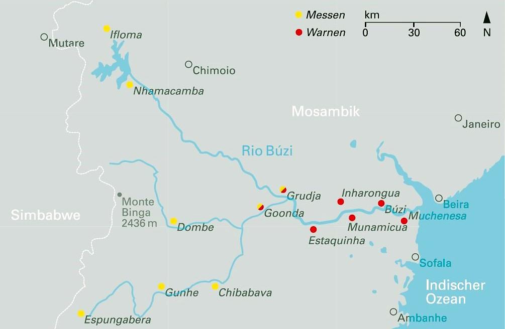 Mosambik Karte.Das Enso Phänomen Das Beispiel Mosambik